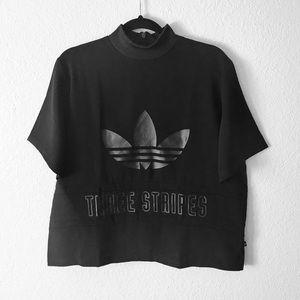 adidas   Trefoil Three Stripe High Neck T-Shirt XL